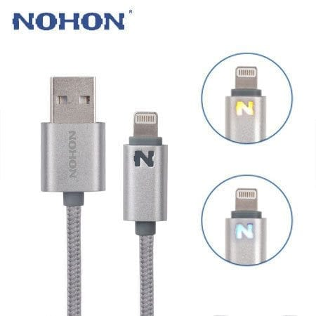 MobileFun Nohon iPhone iPad Charging Cable LED