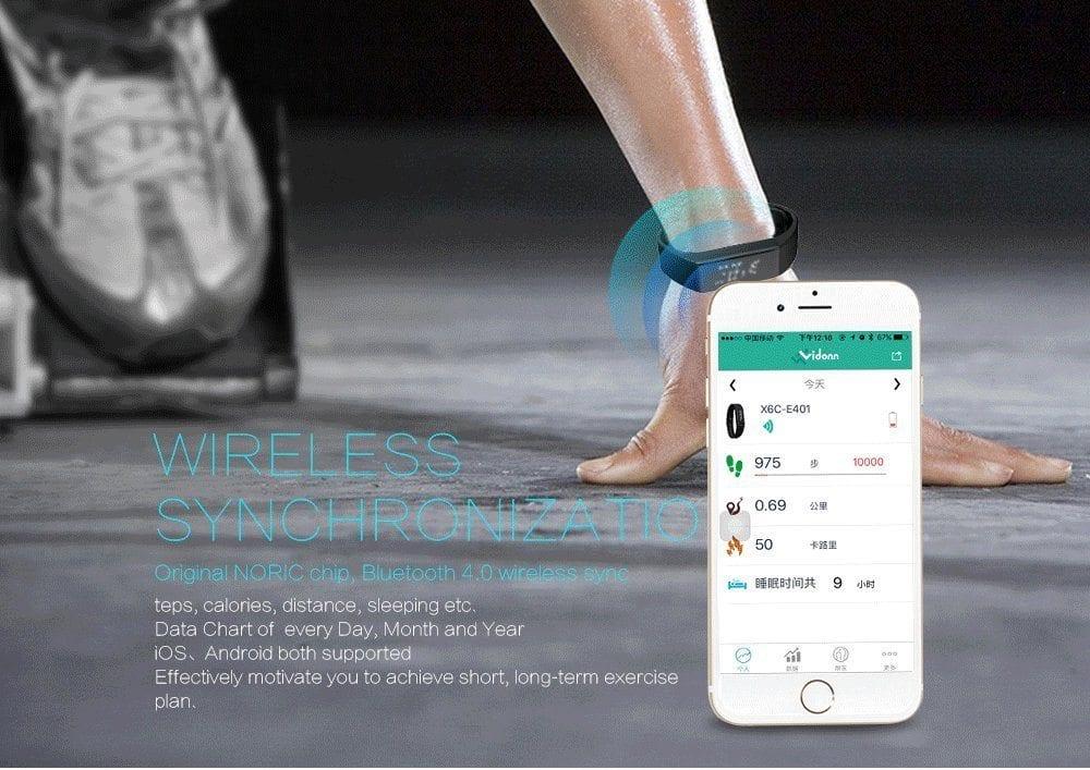 Vidonn X6S Bluetooth Fitness Tracker