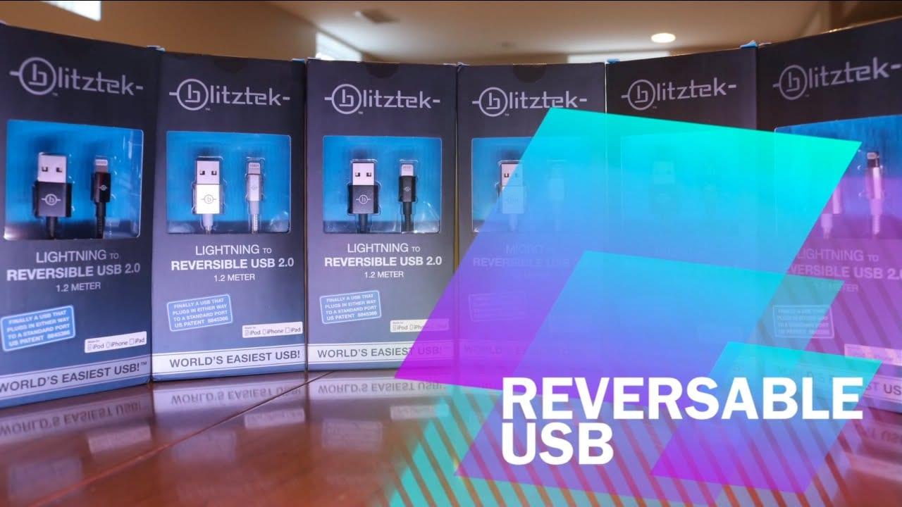 BlitzTek Reversable USB Charging Cable