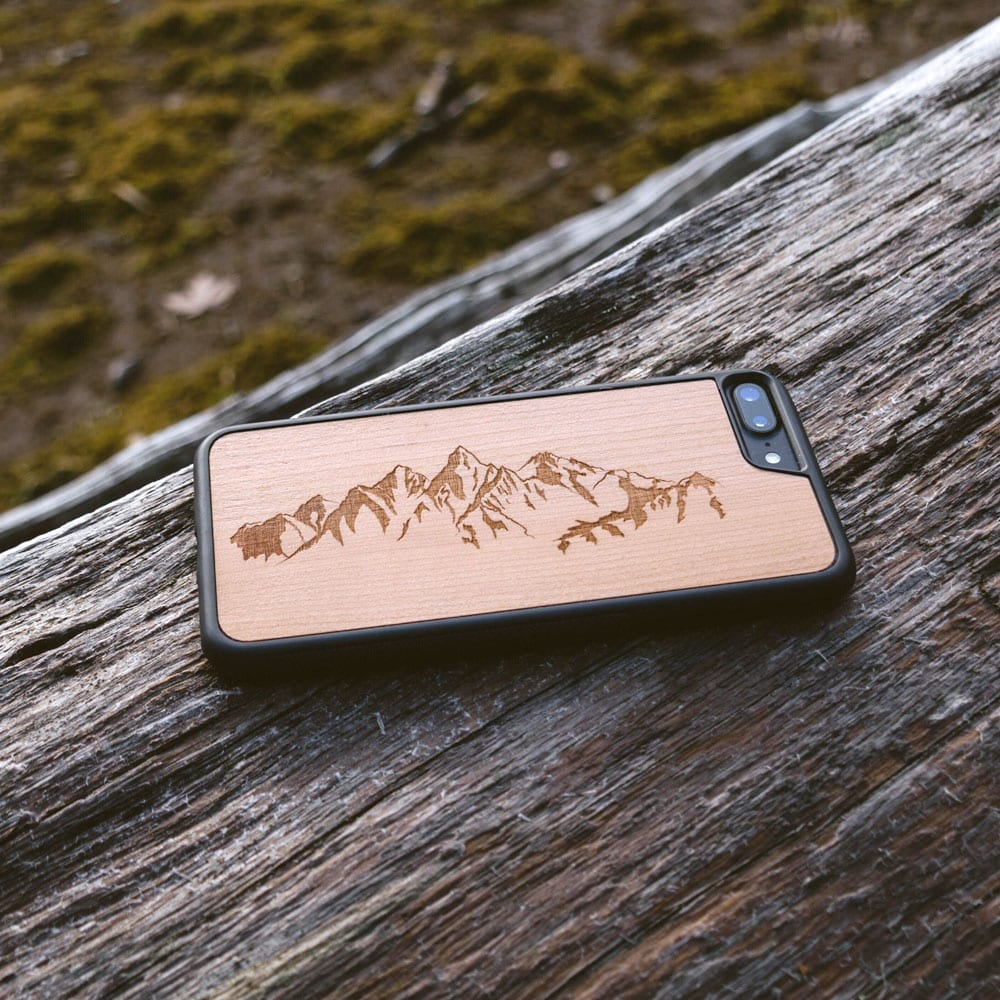 Rosewood Mountains real wood iPhone 7 Case