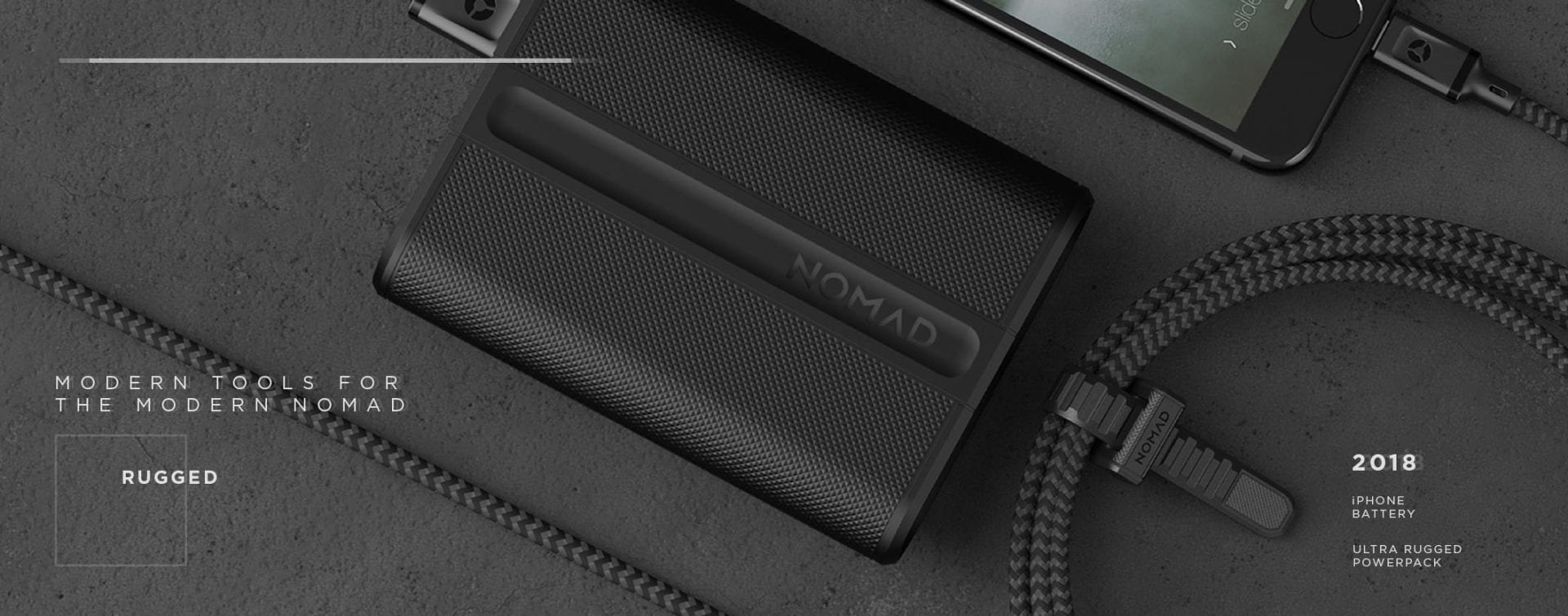 The Nomad Powerpack: trackable battery