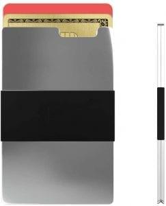 Rullus Ultra Slim Silver Aerospace-Grade Aluminium Wallet